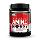 Optimum Nutrition Essential Amino Energy, Fruit Fusion, Keto Friendly BCAAs, Preworkout and Essential Amino Acids with Green Tea and Green Coffee Extract, 65 Servings