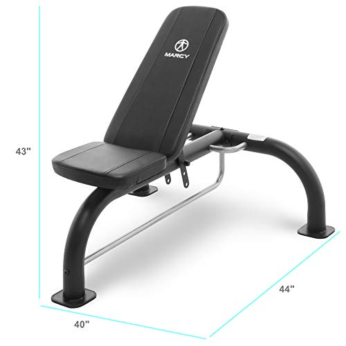 Marcy Multipurpose Utility Weight Bench – Adjustable Backrest Positions, Home Gym Equipment SB-10900