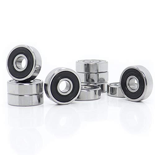625-2RS Kugellager 5 mm x 16 mm x 5 mm Miniatur 625 RS Kugellager 625RS für VORON Mobius 2/3 3D Drucker (10 Stück)