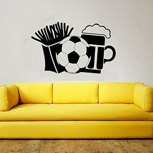 Tianpengyuanshuai Muursticker voetbal vinyl muur sticker jongen slaapkamer sport woonkamer raamdecoratie