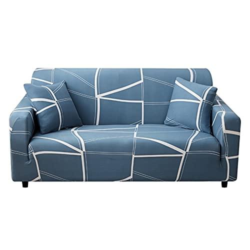 Fundas elásticas Funda de sofá elástica para Sala de Estar Funda de sofá seccional Funda de sillón en Forma de L A10 2 plazas