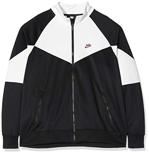 Nike M NSW He WR JKT PK Long Sleeve T-Shirt pour Homme L Noir/Blanc (Black/Summit White/Black)