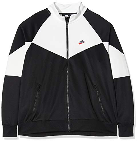 Nike M NSW He WR JKT PK Long Sleeve T-Shirt pour Homme L Noir/Blanc (Black/Summit White/Black)