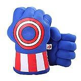 DDGOJUME Guantes de Capitán, 1 par de guantes de boxeo de capitán suaves para niños y adultos (azul)