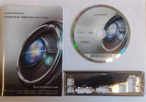 ASRock H81M-DGS R2.0 - Handbuch - Blende - Treiber CD