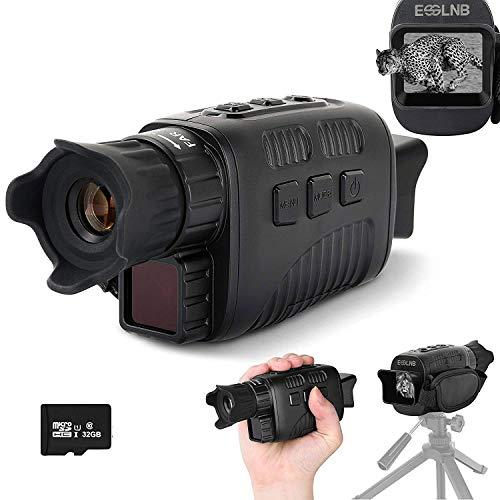 ESSLNB Visore Notturno Monoculare 10X Visore Notturno Caccia con 32GB TF Carta Funzione di Riproduzione di Immagini e Video
