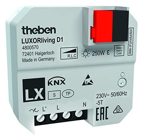 Theben UP-Dimmaktor LUXORliving D1 1 Kanal Bussystem-Dimmaktor 4003468480205