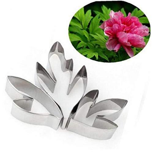 3PCS Kuchen-Form-Pfingstrosen-Blumen-Blätter Kuchen Scherblock-Form Edelstahl Ausstecher Set Küche Bakeware Kuchen-Werkzeuge