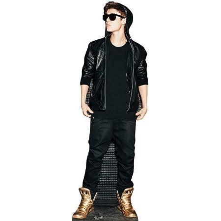 Figura de papel de Justin Bieber (Gold Shoes) de Estados Unidos, figura de papel para cine, tamaño real