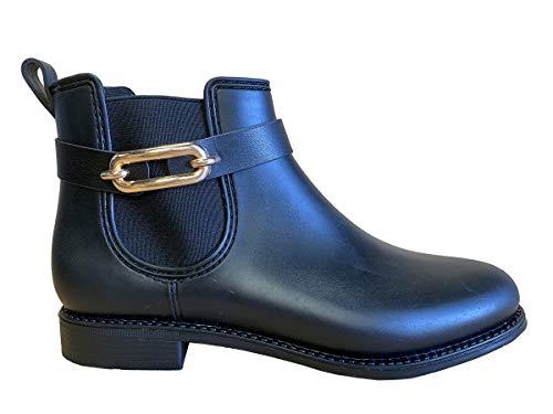 Henry Ferrera Womens Marsala G Short Rain Boots, Adult, Black Matt, 8 M US