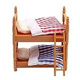 BLANCHO BEDDING Linda casa de muñecas Mini litera Muebles de Dormitorio Modelo de Cama Desmontable