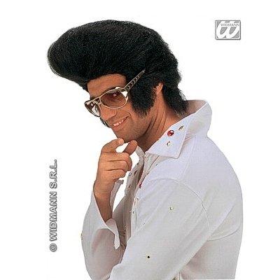 Widmann - Zwarte Elvis pruik