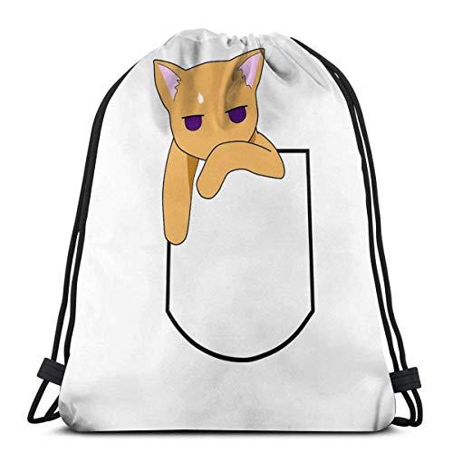 ANGSHI6 Fruits Basket - Kyo The Pocket Cat Drawstring bag unisex classic sports backpack storage bag travel bag