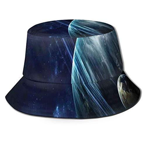 Xian Shiy Gorra de Pescador Unisex, Universo con Planetas y Efectos Luminosos dinámicos Impresión de astronomía del Cuerpo Celeste, Sombrero de Playa de Viaje