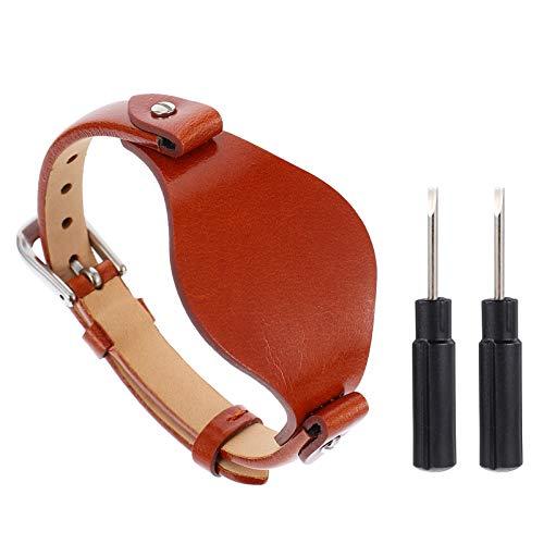 NICERIO Pulseira de relógio de couro fóssil - Pulseira de substituição de couro macia ajustável pulseira vintage para relógio feminino
