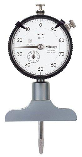 Mitutoyo 7217S Dial Depth Gauge, Indicator Type, 0-8