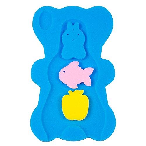 BEWAVE Comodo cuscino spugna da bagno per bambini, tappetino da vasca antiscivolo, Blu