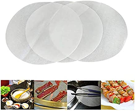 omufipw Papel de pergamino sin blanquear Horneado Pergamino Cocina de papel Hornear Galleta Cera Hojas de papel Exactamente aptas para hornear