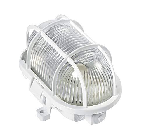 hublot ovale - culot e27 - 60 watts max - blanc - aric 3632