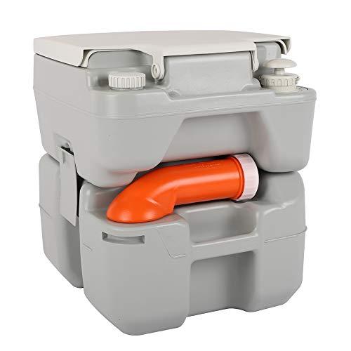 VINGLI Portable 5.3 Gallon Flushing Camping Toilet w/Carrying Bag