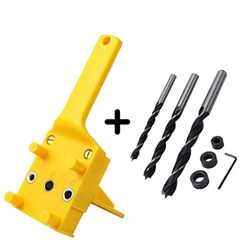 BIlinli 8 Teile/Satz Handheld Holzbearbeitung Dübel Jig Set Holz 6 8 10mm Bohrer Bohrer Führungsloch Locator