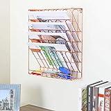 Warmwin Einfaches Bücherregal aus Eisen im europäischen Stil,Desktop-Buch- und...