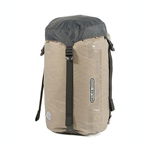 Ortlieb Kompressionspacksack mit Ventil und Gurt - dunkelgrau 7 Liter