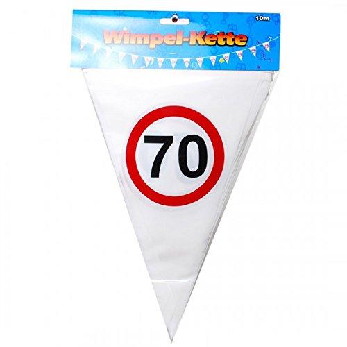 Udo Schmidt verjaardag wimpel slinger 70 jaar verkeersbord party decoratie Happy Birthday