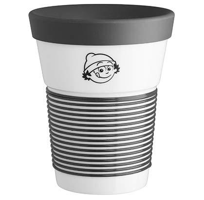Mainzelmännchen Coffee-to-Go-Becher Porzellan Anton groß
