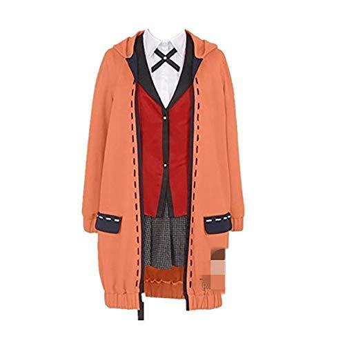 CHANGL Neuheit Cosplay für Partykostüme kakegurui Yomoduki Runa Anime Hoodie Mantel Jacke mit Accessoires Kostüm