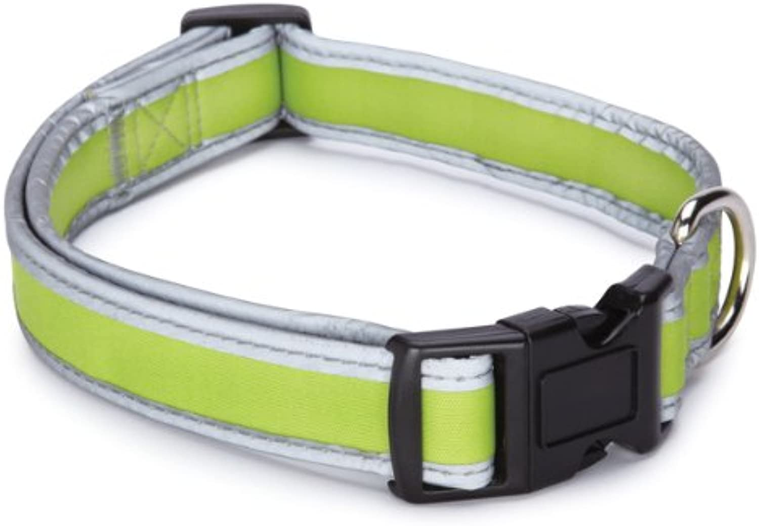 Casual Canine Nylon Reflective Neoprene Dog Collar, 10 to 16Inch, Parred