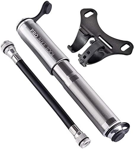 Mini Pompa Per Bicicletta da Pro Bike Tool. Va bene con Valvole Presta e Schrader. Alta pressione PSI-Affidabile compatta e leggera. La migliore qualita' e performance – Pompa per gomme per bici da strada, MTB e BMX
