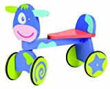 BoiKido 80903009 - Rutschwagen Kuh Violette aus Holz mit Lenker und 4 Rädern. ab 12 Monate