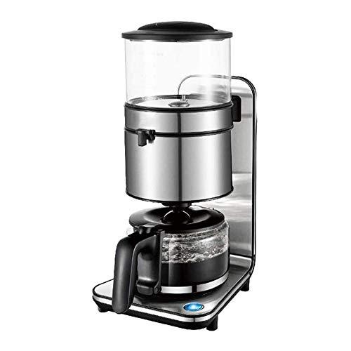 LKNJLL 5-Cup Drip Kaffeeautomat, Kaffeeautomat Serve, Frisch gemahlener Gewerbe Edelstahl Kaffeemaschine Startseite Automatische Kaffeemaschine