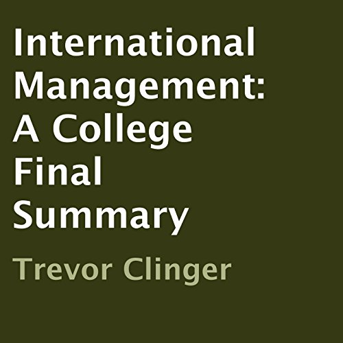 International Management audiobook cover art