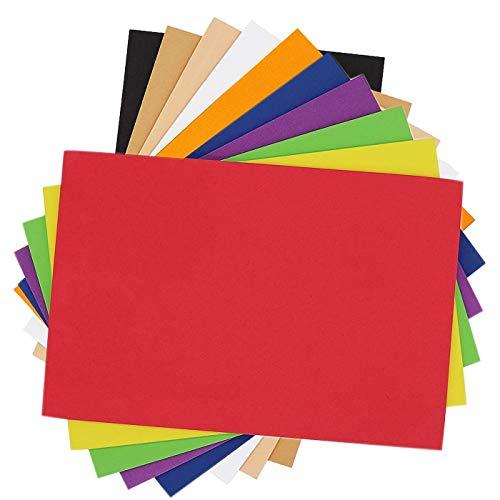 Lámina de Espuma Eva 5mm Hojas de Goma Eva Papel Surtido 10 Color para Manualidades DIY Proyectos Escolares Decoracíon Artesañal(20×30cm)