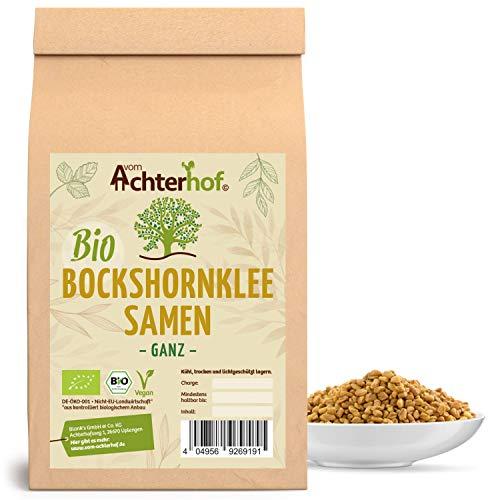 Bockshornklee Samen ganz BIO (250g) | Bockshorn-Tee | Bockshornkleesamen | Ideal als Tee oder Gewürz | Fenugreek Seeds Whole Organic