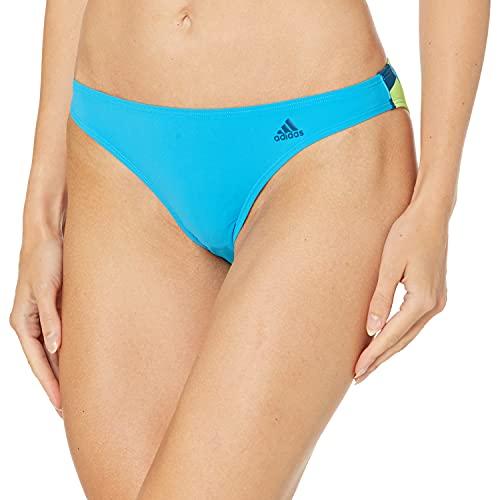 adidas Amphi - Bañador para Mujer, Mujer, Traje de baño de una Pieza, S19ISSW1254, Shock Cyan/Multicolor, XS