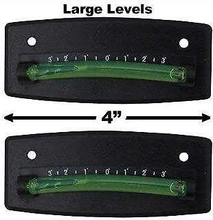 EZ Travel Collection 2-Pack Bubble Graduated Scale Levels Trailer Leveler Large (Black)