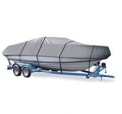 EXTREMELY HEAVY-DUTY Boat Cover For DONZI- fits DONZI CLASSIC SWEET 16 I/O (ALL YEARS) PROTECT YOUR BOAT-NEW, IMPROVED TECHNOLOGY: 600 Denier Heavy-Duty, Breathable, Urethane Coated Marine Grade Woven Canvas Polyester. Will not Stretch or Shrink. Hig...