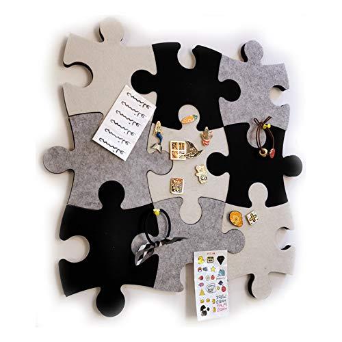 Vilt muur Bulletin Board Kurk Board Tegels, 1 stks Puzzel Vorm Pin Board w/Zelfklevend om herinneringen te houden Foto's Memos Display Board Pads Afbeeldingen Tekenen Doelpunten Opmerkingen Kleurrijke Schuim muur Decoratief Kleur: wit