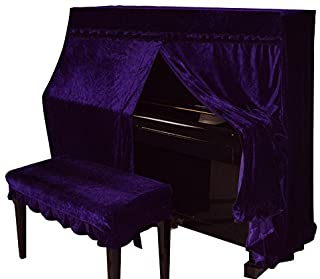 Omonic Full Piano Cover and Chair Bench Cover Cloth Art More