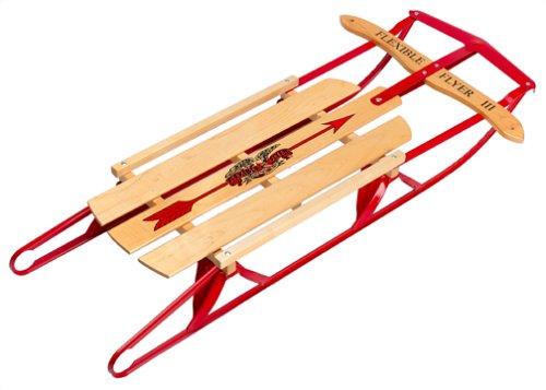 Paricon 1042 Flexible Flyer Metal Runner Steel & Wood Snow Slider Sled...
