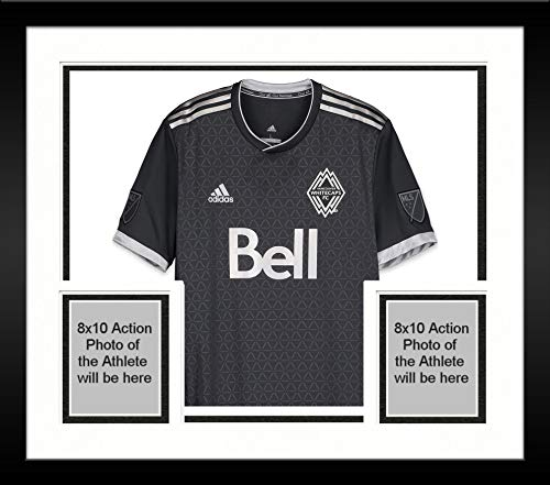Framed Efrain Juarez Vancouver Whitecaps FC Autographed Match-Used White #6 Jersey from the 2018 MLS Season - Soccer Autographed Match Used Jerseys