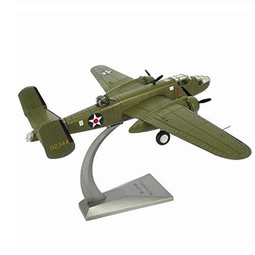 Bombardero de aleación a escala 1/72 B-25 Mitchell Avión de la Fuerza Aérea de EE. UU. B25 avión de combate modelo de juguete colección de regalos para niños para niños
