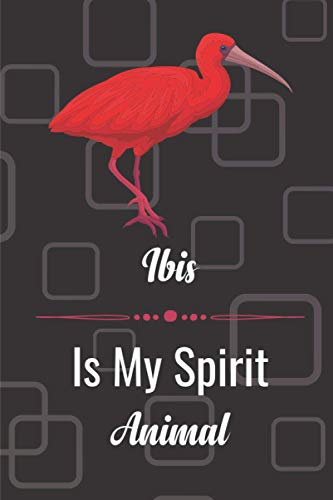 Ibis Is My Spirit Animal: Blank lined notebook gifts for boys, girls, men, women, kids, students I Notebook for animal lover