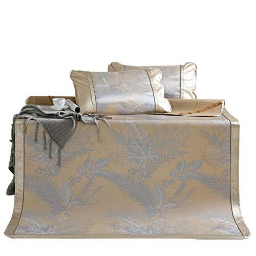 Bambus Matratzen Bettmatte Matratzen Sommer-Schlafmatten Strohmatte Teppiche 1,8m Jacquard Seide Aus Seide Faltbar Zuhause Schlafzimmer Bettbezüge, 3-teiliges Set (Size : 1.8x2.0m)