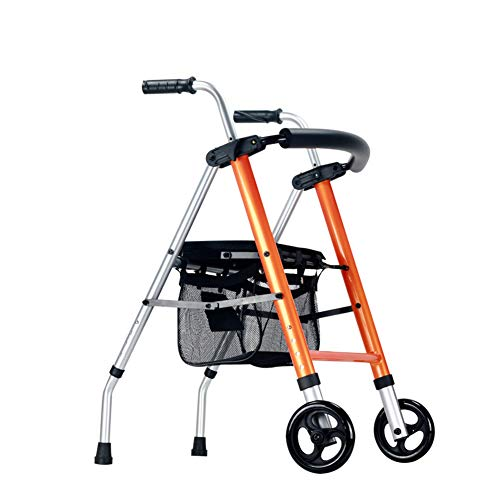 Mobilität Tragbarerollator Walker Gepolsterte Sitz Aluminium Rollator Walker Fold Up Leichte Hilfe Behinderte Walker Rollator Für Kinder Erwachsene Hohe Qualität