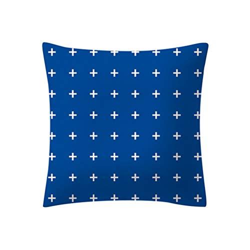 Transwen - Cojín para casa de poliéster, para sofá, a rayas, cojín geométrico, cojín de plumón, E, 45 x 45 cm