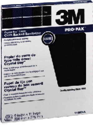 3M 02431 Fine Crystal Bay Emery Cloth Coated Abrasive Sheets